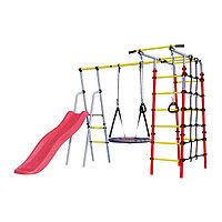 Детский спортивный комплекс уличный «Богатырь», 2532 × 2443 × 1855 мм, качели гнездо