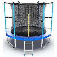 Батут EVO JUMP Internal, d=305 см, с внутренней защитной сеткой и лестницей, цвет синий 244 см