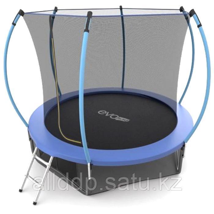 Батут EVO JUMP Internal, d=244 см, с внутренней защитной сеткой и лестницей + нижняя сеть, цвет сини ... - фото 1