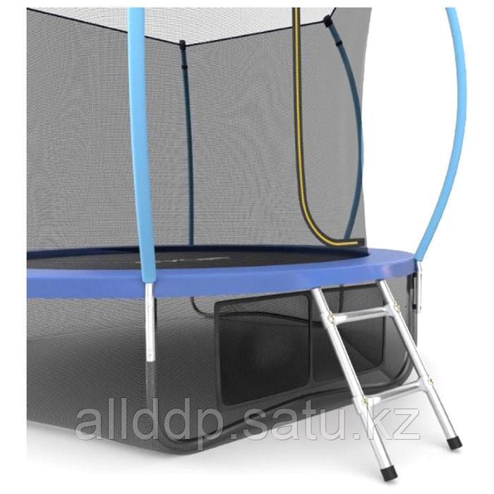 Батут EVO JUMP Internal, d=244 см, с внутренней защитной сеткой и лестницей + нижняя сеть, цвет сини ... - фото 2
