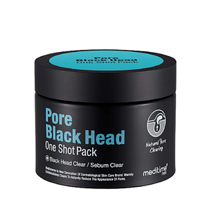 Разогреваяющая маска для очищения пор Meditime Pore Black Head One Shot Pack
