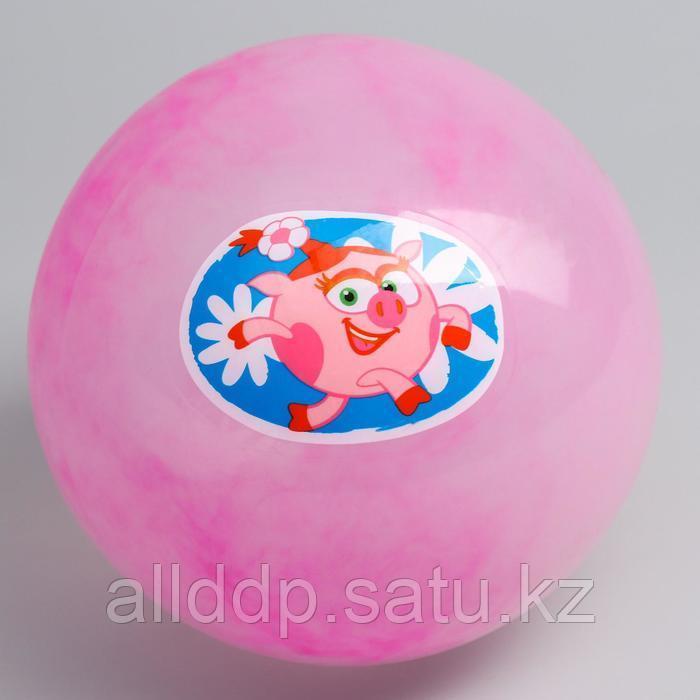 "Мяч детский  СМЕШАРИКИ ""Нюша"" , 22 см, 60 гр, мрамор, МИКС"