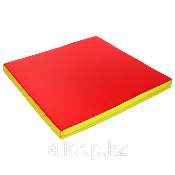 Мат с креплением к ДСК, 100 х 100 х 8 см, oxford, цвет зелёный/жёлтый/красный