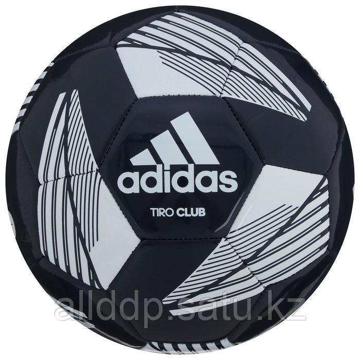 Мяч футбольный ADIDAS Tiro Club, размер 5, ТПУ, 12 панелей, машинная сшивка, цвет белый/синий