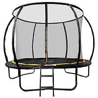 Батут SportElite, d=366 см, с защитной сеткой и лестницей