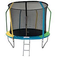 Батут SportElite FLY, d=305 см, фиберглас, с внутренней защитной сеткой и лестницей