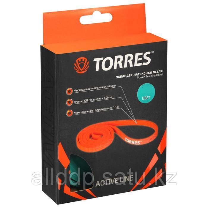 Эспандер TORRES, латексная петля, 208 х 1,3 см, сопротивление 15 кг - фото 2