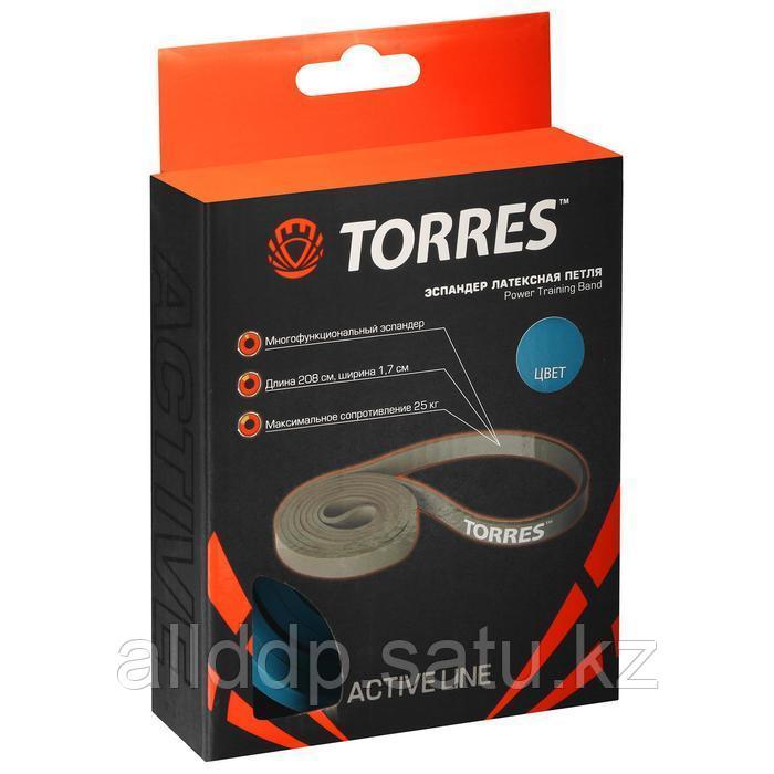 Эспандер TORRES, латексная петля, 208 х 1,7 см, сопротивление 25 кг - фото 2