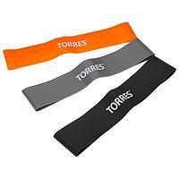 Эспандер TORRES, набор резиновых жгутов TPR, длина 24 см, ширина 5 см, 3 жгута