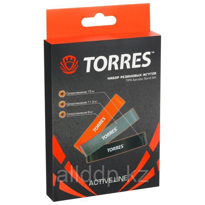 Эспандер TORRES, набор резиновых жгутов TPR, длина 24 см, ширина 5 см, 3 жгута - фото 2