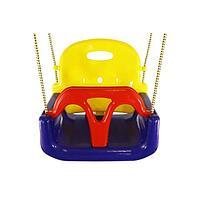 Детские пластиковые качели 3 в 1 Kampfer, цвет синий/жёлтый/красный
