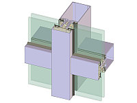 Светопрозрачная стеклянная фасадная система ФС50
