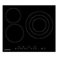 Варочная поверхность Maunfeld EVCE.593.T-BK, электрическая, 3 конфорки, сенсор, чёрная