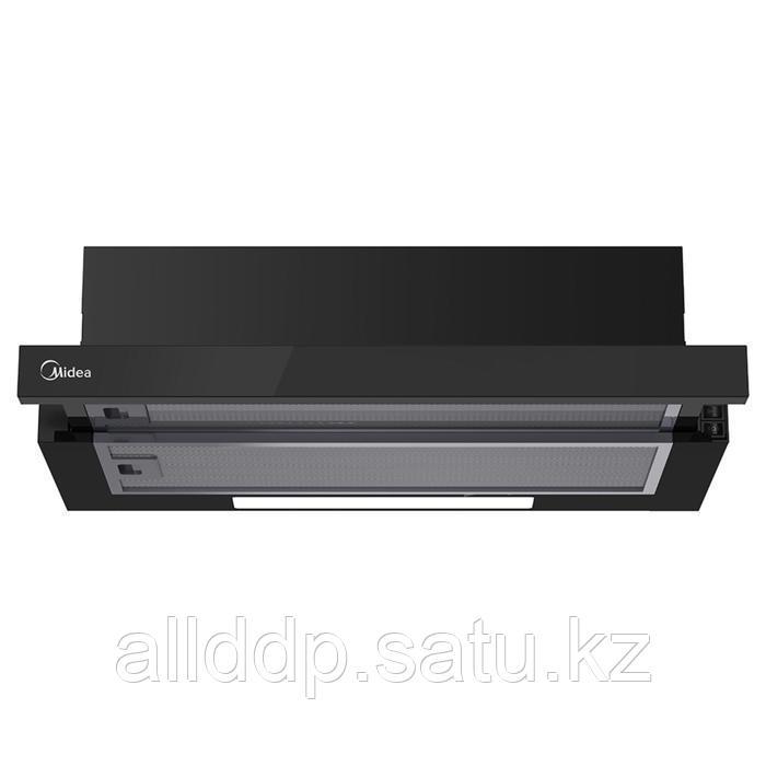 Вытяжка Midea MH60P303GB, встраиваемая, 450 м3/ч, 2 скорости, 60 см, чёрная