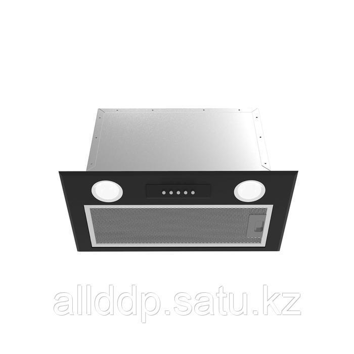 Вытяжка Midea MH60I350B, встраиваемая, 900 м3/ч, 52 см, кнопочное управление, чёрная
