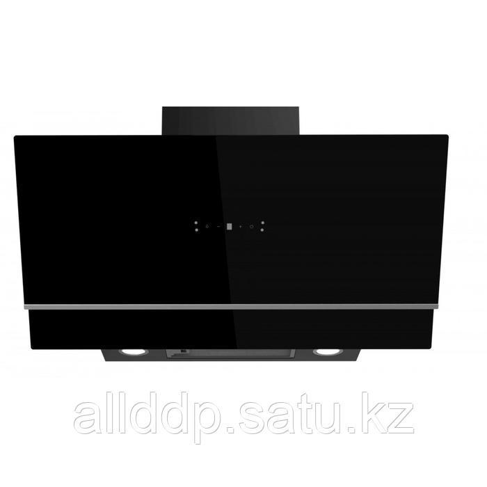 Вытяжка Midea MH90AN1005GB, каминная, 1150 м3/ч, 4 скорости, 90 см, чёрная