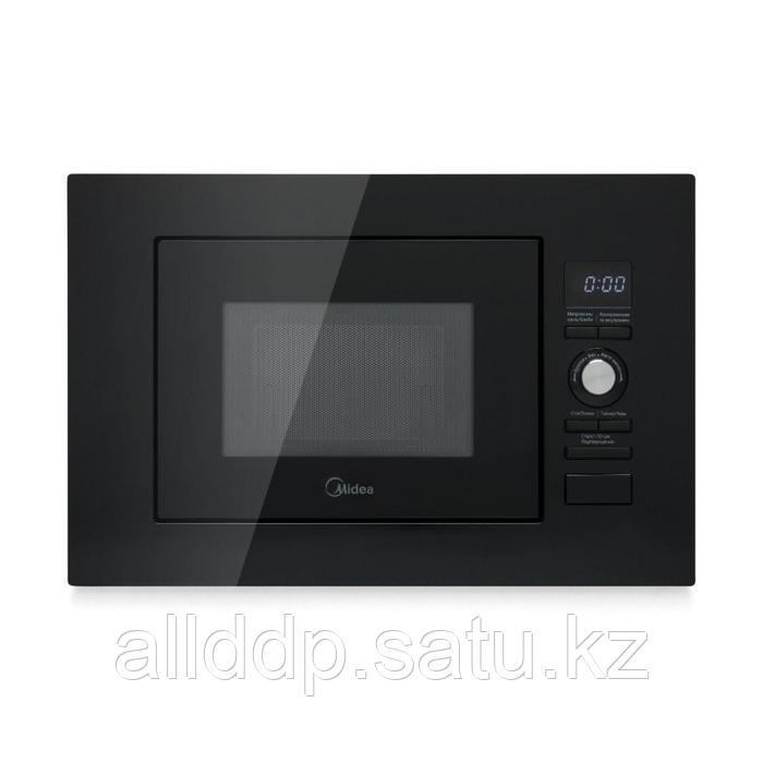 Встраиваемая микроволновая печь Midea AG820BJU-BL, 800 Вт, 20 л, чёрная