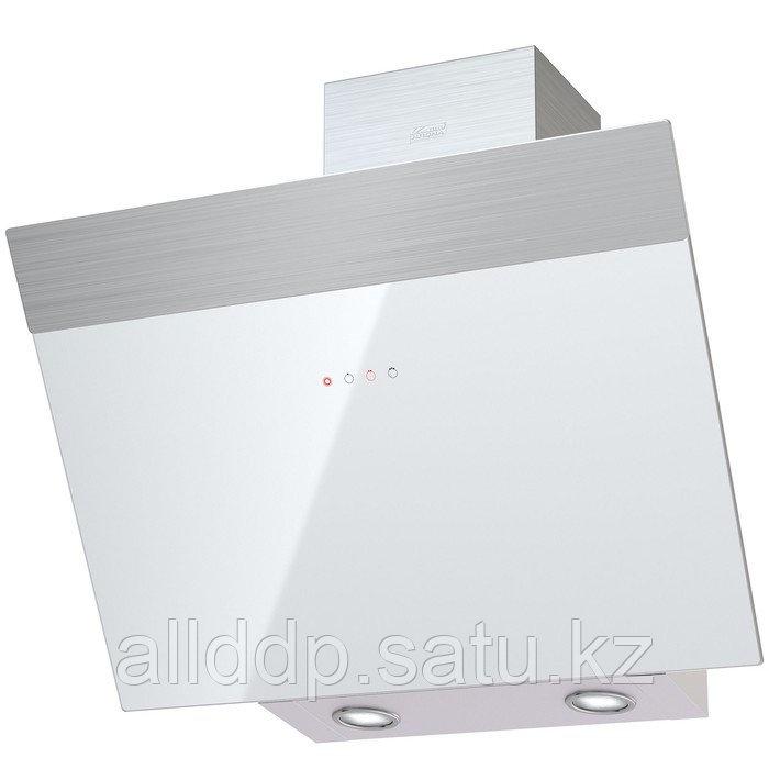 Вытяжка KRONA KRISTEN 600 WHITE/INOX S, наклонная, 1000 м3/ч, 3 скорости, 60 см