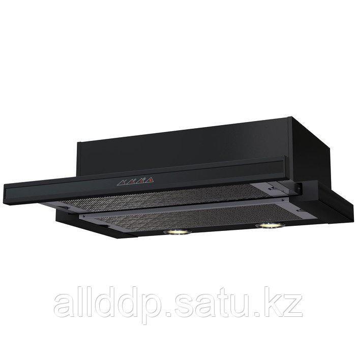 Вытяжка KRONA KAMILLA sensor 600 BLACK, встраиваемая, 550 м3/ч, 3 скорости, 60 см, чёрная