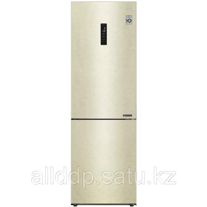 Холодильник LG GA-B459CESL, двухкамерный, класс А+, 374 л, Total No Frost, бежевый