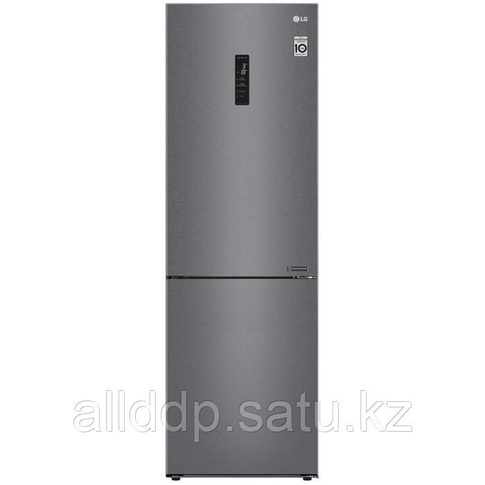 Холодильник LG GA-B459CLSL, двухкамерный, класс А+, 374 л, Total No Frost, цвет графит