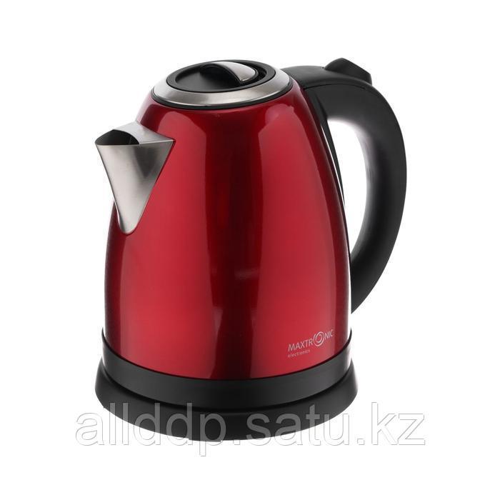 Чайник электрический MAXTRONIC MAX-552, металл, 2000 Вт, 1.7 л, красный