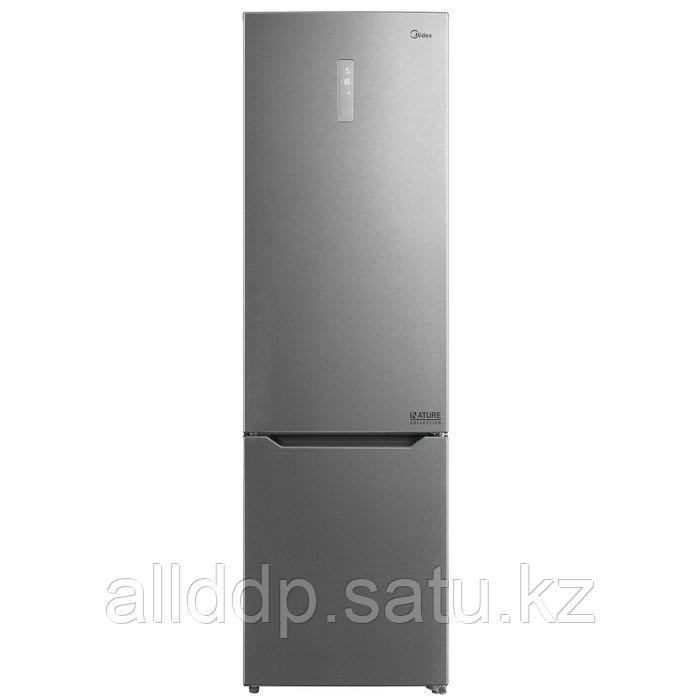 Холодильник Midea MRB520SFNX1, двухкамерный, класс А++, 350 л, No Frost, серебристый