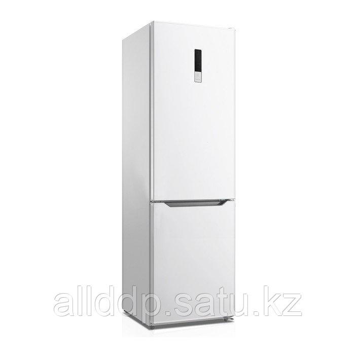 Холодильник Zarget ZRB 485NFW, двухкамерный, класс А+, 360 л, No Frost, дисплей, белый