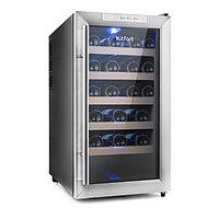 Винный шкаф Kitfort КТ-2409, 70 Вт, 5 полок, 48 л, 18 бутылок, 1 климатическая зона