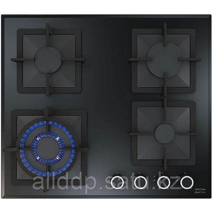 Варочная поверхность KRONA CALORE 60 BL, газовая, 4 конфорки, 60 см, чёрная