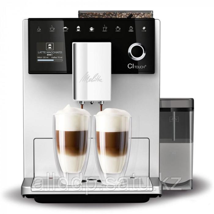 Кофемашина Melitta Caffeo F 630-101 CI Touch, автоматическая, 1450 Вт, 1.8 л, серебристая