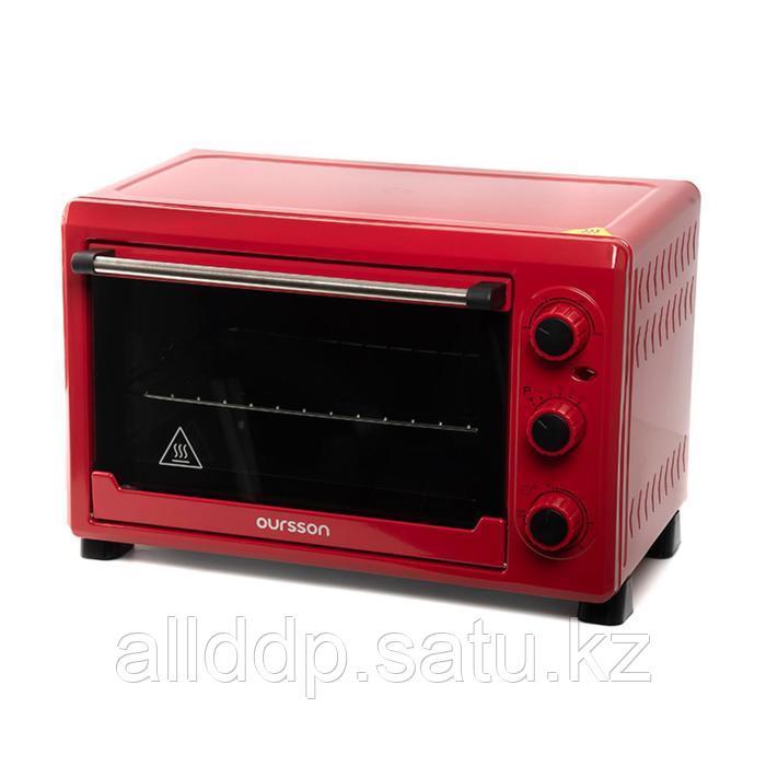 Мини-печь Oursson MO2620/RD, 1500 Вт, 26 л, 5 режимов, конвекция, красный