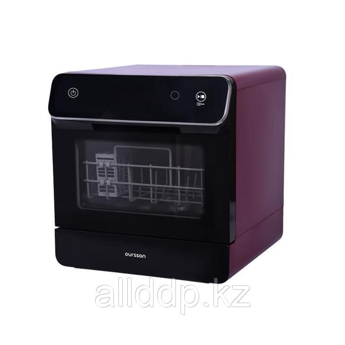 Посудомоечная машина Oursson DW4001TD/DC, 4 комплекта, 6 программ, настольная, фиолетовая
