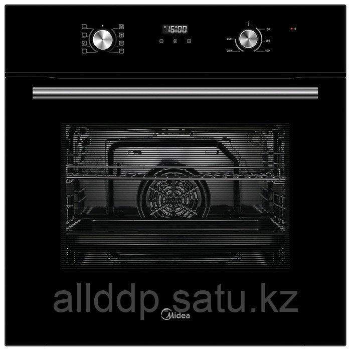 Духовой шкаф Midea MO 67000 GB, электрический, 70 л, класс А, гриль, чёрный