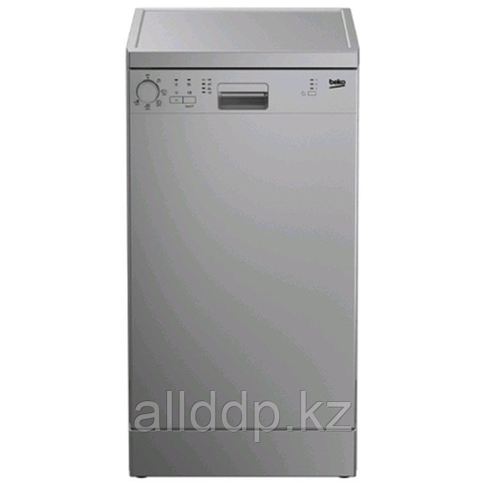 Посудомоечная машина Beko DFS 05W 13S, класс А, 10 комплектов, 5 программ, серебристая