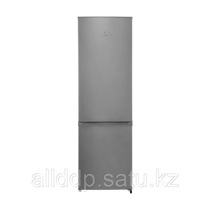 Холодильник Lex RFS 202 DF IX, двухкамерный, класс A+, 264 л, серебристый