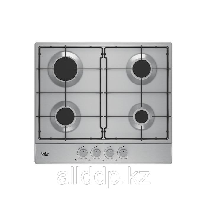 Варочная поверхность Beko HIAG 64223 X, газовая, 4 конфорки, электроподжиг, нерж. сталь