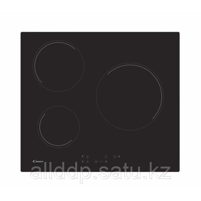Варочная поверхность Candy CH63CT, электрическая, 3 конфорки, сенсор, черная