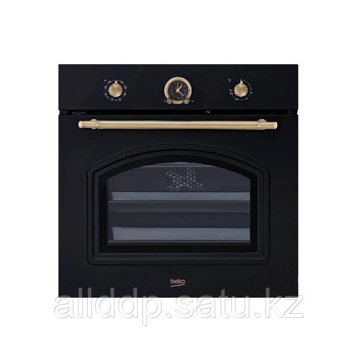 Духовой шкаф Beko OIM 27201 A, электрический, 71 л, класс А, гриль, ретро, чёрная