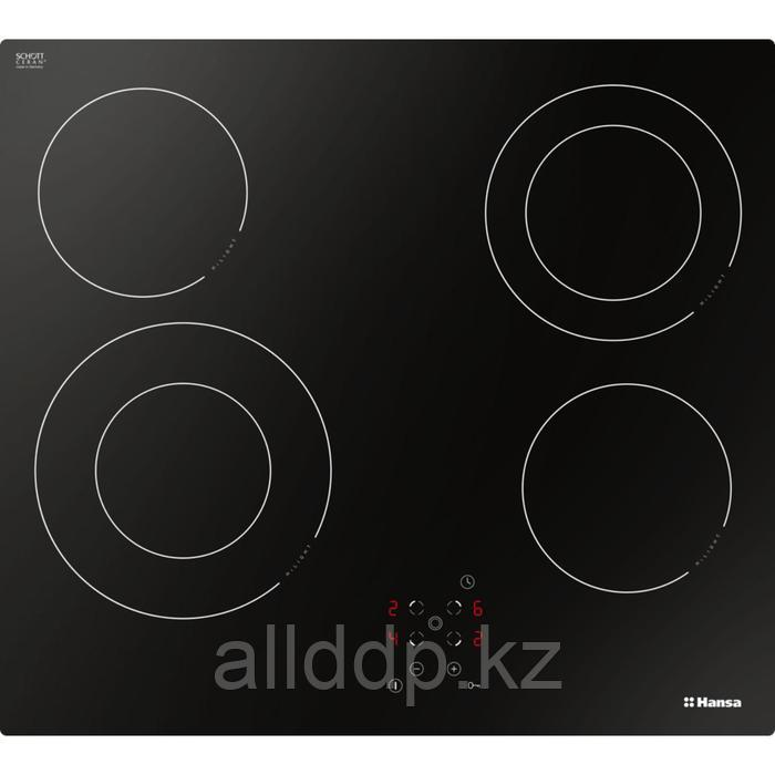 Варочная поверхность Hansa BHC66506, электрическая, 4 конфорки, сенсор, черная