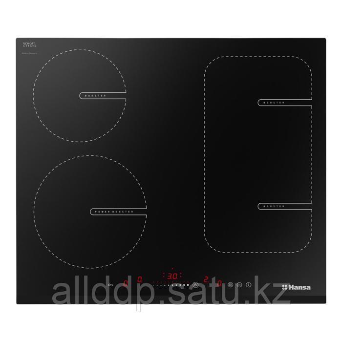 Варочная поверхность Hansa BHI68611, индукционная, 4 конфорки, сенсор, черная