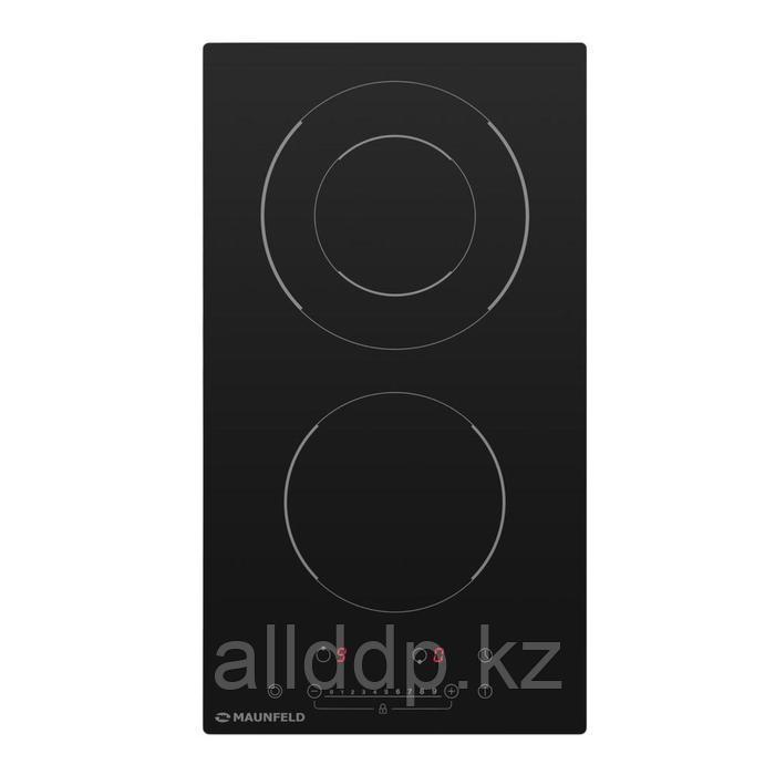 Варочная поверхность Maunfeld EVCE.292F.D-BK, электрическая, 2 конфорки, сенсор, черная