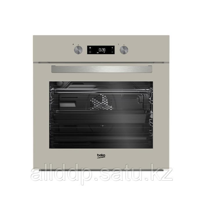 Духовой шкаф Beko BIM 24301 BGCS, электрический, 2500 Вт, 71 л, 8 режимов, бежевый