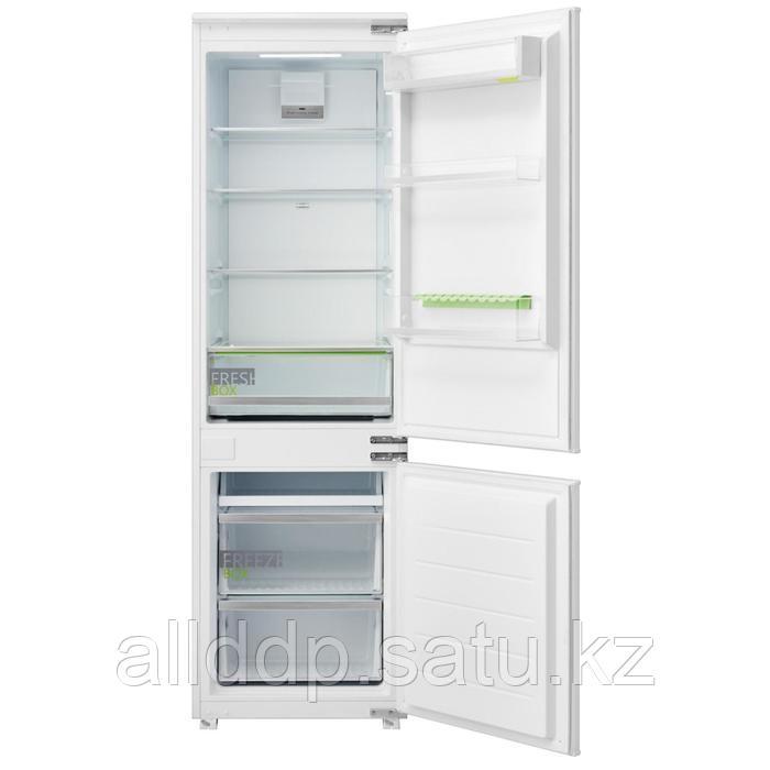 Холодильник Midea MRI9217FN, встраиваемый, двухкамерный, класс А+, 266 л, белый