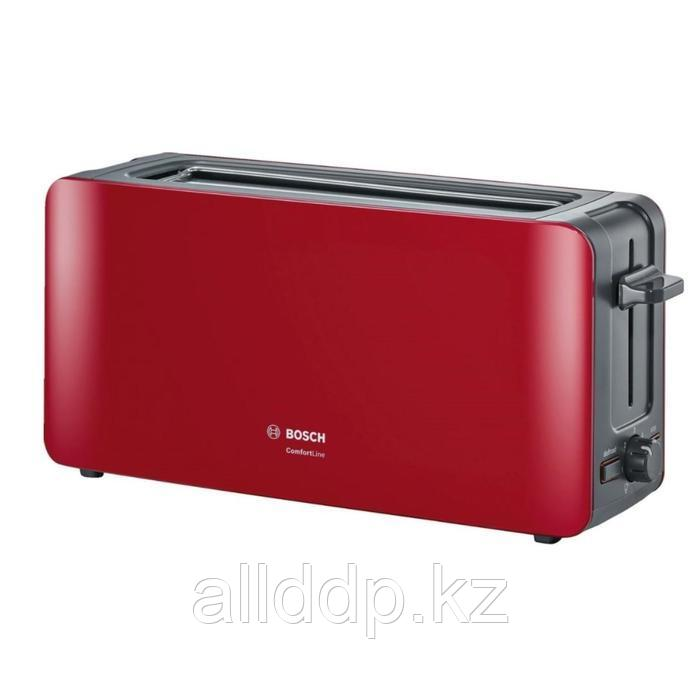 Тостер Bosch TAT6A004, 980 Вт, 6 режимов прожарки, 1 тост, красный