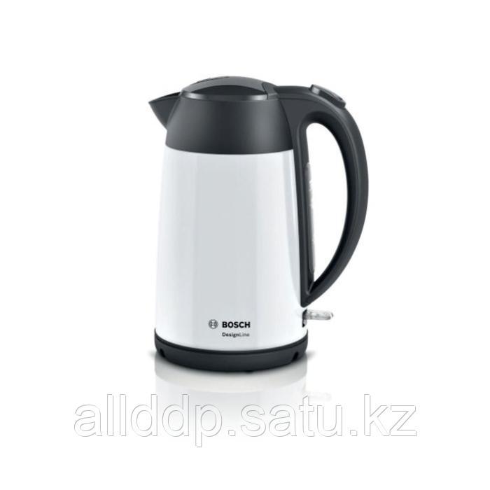Чайник электрический Bosch TWK3P421, металл, 1.7 л, 2400 Вт, белый