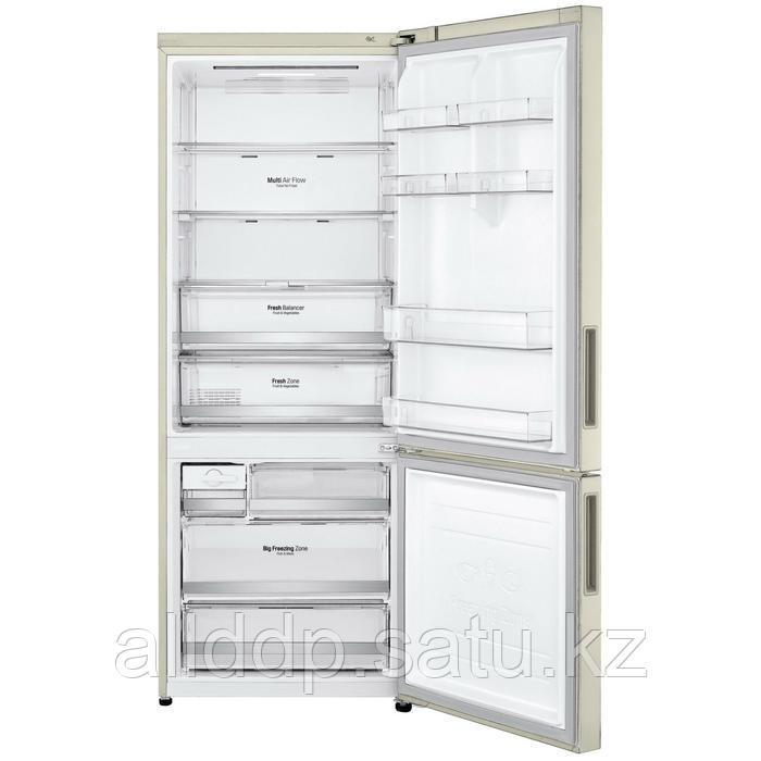 Холодильник LG GC-B569PECZ, двухкамерный, класс А++, 500 л, No Frost, инвертор, бежевый