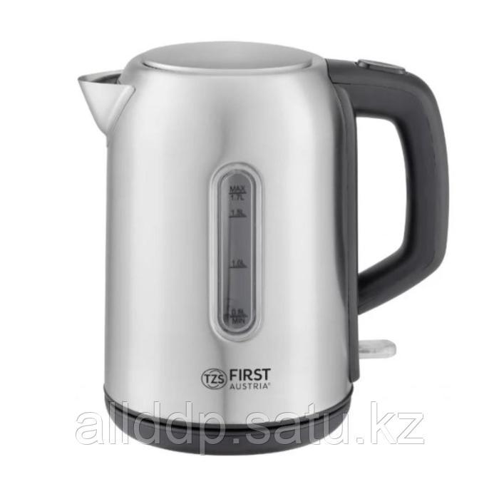 Чайник электрический FIRST 5409-5, металл, 1.7 л, 2200 Вт, серебристый