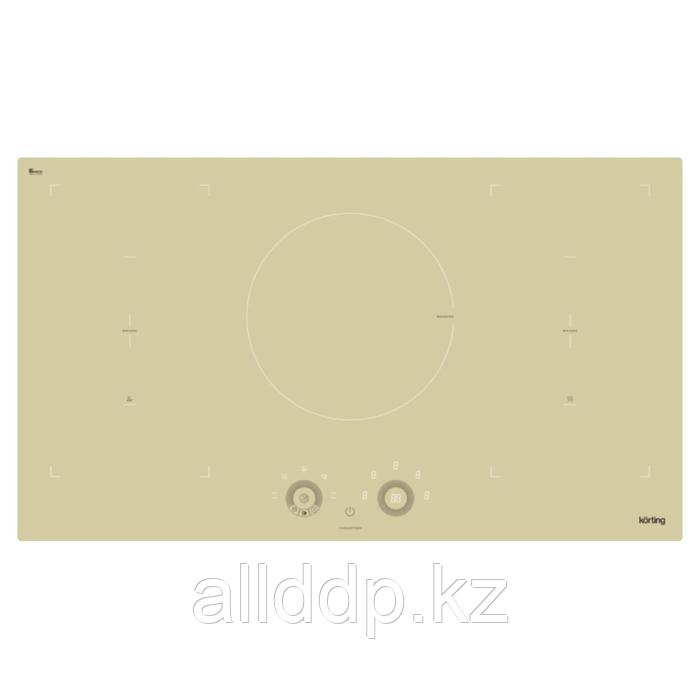Варочная поверхность Körting HIB 95760 BB Smart, индукционная, 5 конфорок, сенсор, бежевая
