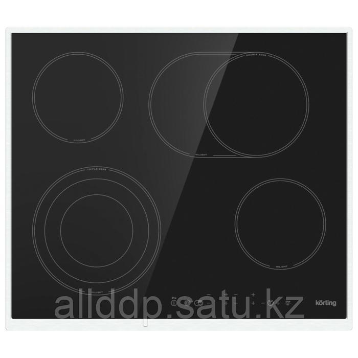 Варочная поверхность Körting HK 63052 X, электрическая, 4 конфорки, сенсор, чёрная